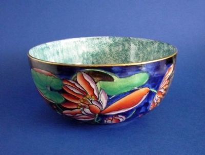 Large Hancock's Corona Ware 'Water Lily' Bowl by Molly Hancock c1930